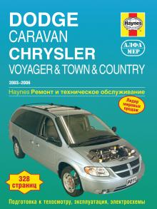 CHRYSLER Voyager, Town, Country/ DODGE Caravan, с 2003 по 2006 г., бензин (P211)