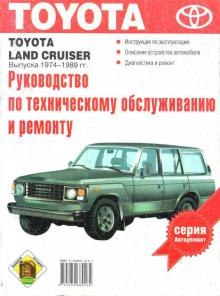 Книга Toyota Land Cruiser с 1974-1989 г. Руководство по ремонту